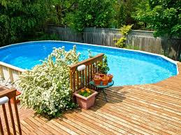 image of above ground pools with deep end