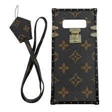 Designer Phone Lanyards Jiehao Compatible With Samsung Galaxy Note 8 Case Vintage Elegant Luxury Designer Monogram Pu Leather Back With Lanyard Soft Bumper Shock Trunk