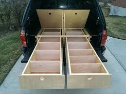 wood truck bed storage drawers