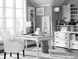 modern home office featuring glossy white. Black And White Office. Decorations : Contemporary Home Office Space Ideas With Modern Featuring Glossy N
