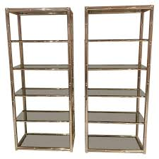 Glass shelves bookcase Glass Doors Pair Faux Bamboo Brass Etageres Glass Display Shelves Hollywood Regency Metal For Sale Cheap Beds Leeds Pair Faux Bamboo Brass Etageres Glass Display Shelves Hollywood