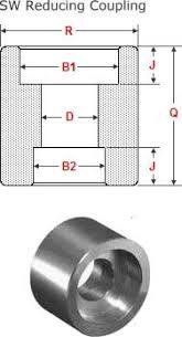 Npt Coupling Size Chart Dimensions Of Socket Weld Reducing Couplings Nps 1 2 Nps