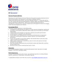 Best Ideas Of Cover Letter Human Resources Generalist About Resume