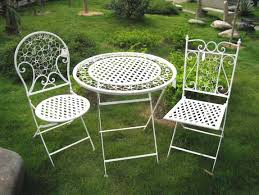 white metal outdoor furniture. Lovely White Metal Outdoor Furniture Patio Chairs L
