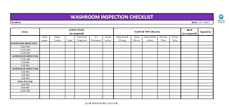 Template Office Cleaning List Template Checklist Free Toilet Excel