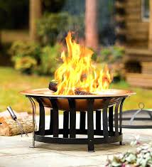 large chiminea outdoor fireplace all in one fire pit comes with basin stand spark guard copper