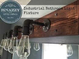 industrial lighting diy. bathroom59 plan bathroom lighting industrial diy light fixture by snazzylittlethings com diy a
