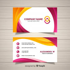 Namecard Format Business Card Template Vector Free Download