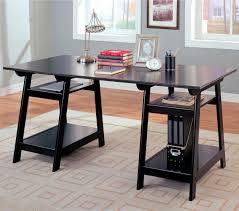 office glass desks. Office Glass Desks. Double Pedestal Desk With Open Shelves  For Desks F