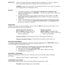 College Student Resume For Summer Child Care Example Perfect