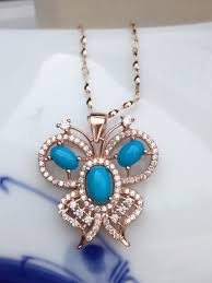 kjjeaxcmy boutique jewelry erfly control welfare 925 sterling silver natural turquoise female models pendant whole