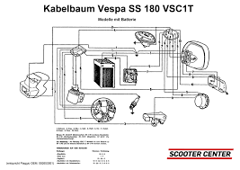 wiring loom vespa vespa 180 ss (vsc1t, models with battery Vespa Px Wiring Loom Diagram Vespa Px Wiring Loom Diagram #49 Electric Scooter Wiring Diagrams