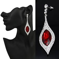 large red crystal earrings austrian crystal red earrings red pageant earrings red chandelier earrings