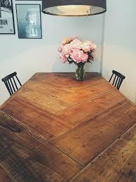 herringbone table diy kitchen