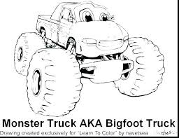 Monster Truck Coloring Pages Printable Monster Truck Coloring Page