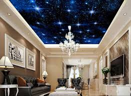 ceiling ideas for living room. 23 Wall Mural Ideas For Living Room, Custom Starry Sky . Ceiling Room