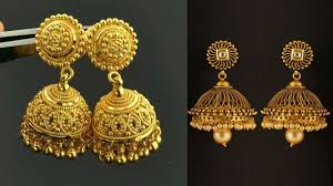 South Indian Traditional Gold Earrings Designs South Indian Traditional Jhumka Designs