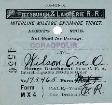 P L Form Inspiration Interline Mileage Exchange Ticket Coraopolis History Archive