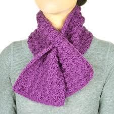 Keyhole Scarf Crochet Pattern
