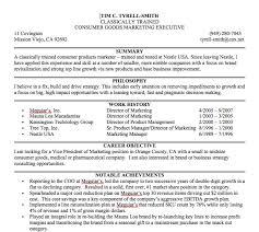 Sample Resume Summary Statement