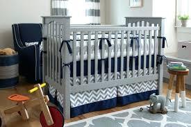 blue and grey crib bedding blue and gray crib bedding navy blue chevron baby boy bedding
