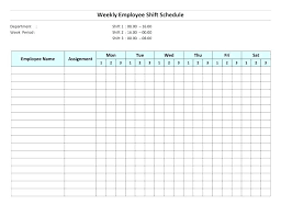 Work Schedule Template Word Employee Shift Planner Free