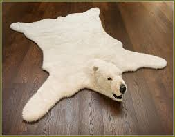 interior add some classic white to your home with fluffy polar bear rug with white