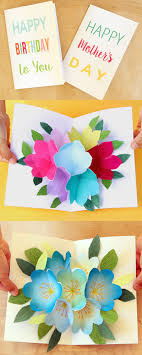 free printable photo birthday cards free printable happy birthday card with pop up bouquet a piece of