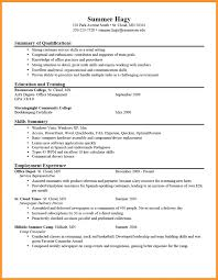 Student Resume Summary Examples Examples Of Resumes