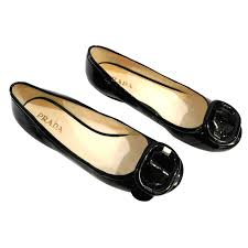 prada ballet flats ballet flats patent leather black ref 48810