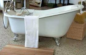 used tub bathroom design medium size bathtub how to a black faucet shower install clawfoot installation