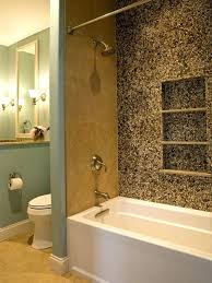 ceramic tile bathtub surround ideas pebble tiles decoratively accent the wall and blend with green ac