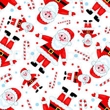 Christmas Pattern Background Classy Seamless Santas Pattern On White Vector Christmas Background Stock