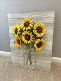 diy wall art ideas sunflower decor