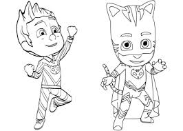 Small Picture Pajama Hero Connor is Catboy from PJ Masks coloring page Free