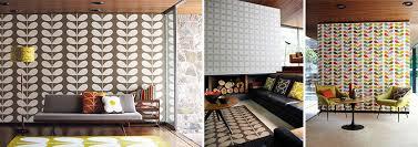 living room orla kiely multi: left right giant stem flower tile and multi stem all from