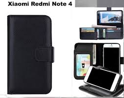 xiaomi redmi note 4 leather wallet case folded 7 cards id black trade me