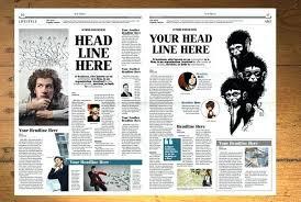 Newspaper Template Illustrator Tabloid Template Best Newspaper Templates Free Download