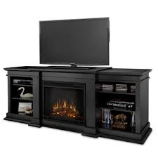 real flame fresno g1200 x b entertainment unit in black with electric fireplace