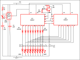 9 led knight rider circuit led running lights 9 led knight rider circuit diagram