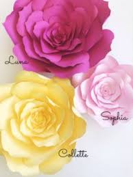 Flowers Templates Large Paper Flowers Diy Templates And Ready To Ship