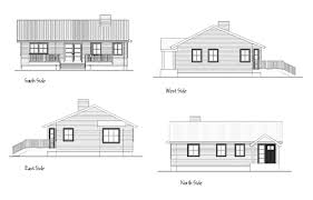 architecture house drawing. All Four Sides Elevation Drawings Architecture House Drawing