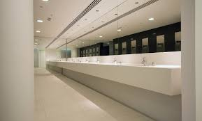 office washroom design. Selection Of Reception Desks And Vanity Troughs In Office Toilet Areas Fabricated By Decra Ltd - Washroom Design S