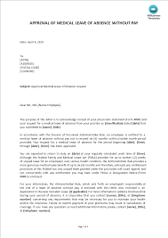 Medical Leave Approval Letter Templates At