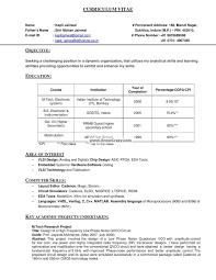 Computer Resume Format Resume Format