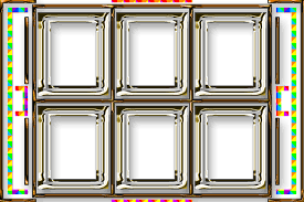 6 picture frames with blank background