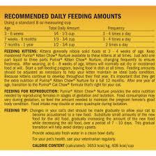 Kitten Feeding Chart Kitten Chow Nurture Formula Purina Store