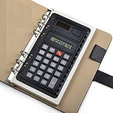 Trip Planner Calculator Chris Wang Portable Pocket 6 Hole Solar Power Calculator Ruler For Universal A5 A6 B5 Binder Planner Notebook Personal Organizer Planner