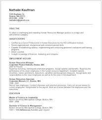 Human Resources Manager Resume Human Resources Skills Resumes Human