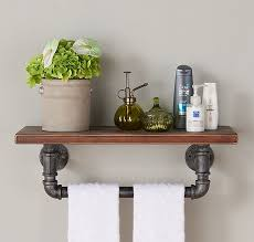 industrial wood and metal floating wall shelf reviews birch lane industrial wall shelves
